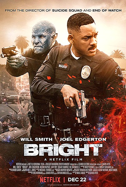 SWORDS AND BADGES Bright is a odd mix of buddy cop action and sword-and-board fantasy that somehow works. - PHOTO COURTESY OF NETFLIX