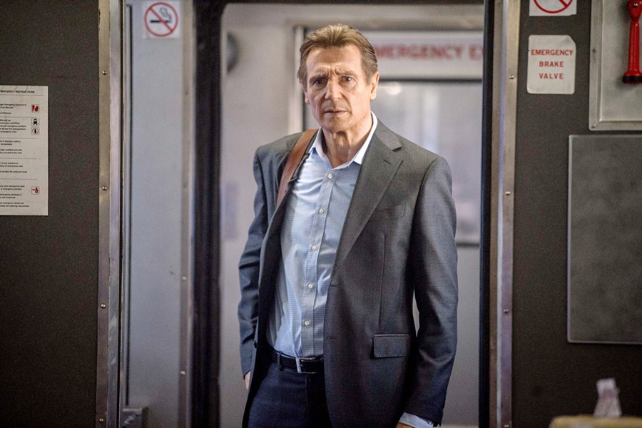 OFF TRACK A train ride to work goes awry when Michael (Liam Neeson) becomes involved in a criminal conspiracy in The Commuter. - PHOTO COURTESY OF UNIVERSAL PICTURES