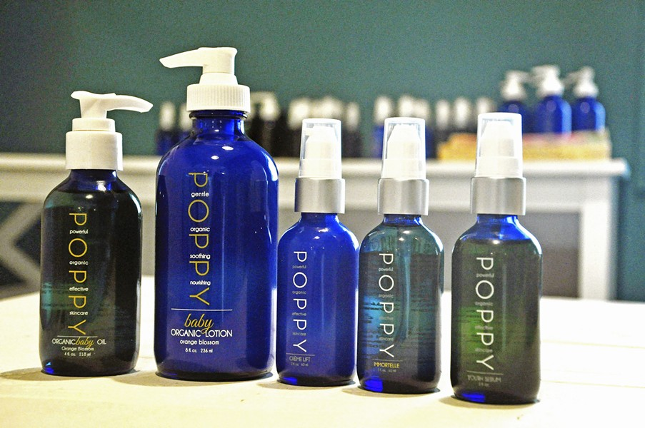 BLUE BEAUTY Poppy Products based in Morro Bay focuses on all natural ingredients for skin care without the preservatives or chemicals. - PHOTO BY CAMILLIA LANHAM