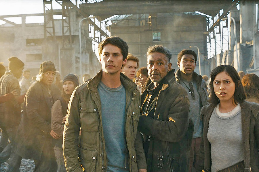 A WAY OUT In Maze Runner: The Death Cure, Thomas (Dylan O'Brien, center) and his group of escaped Gladers must break into what may be the deadliest maze of all in order to find answers. - PHOTO COURTESY OF 20TH CENTURY FOX