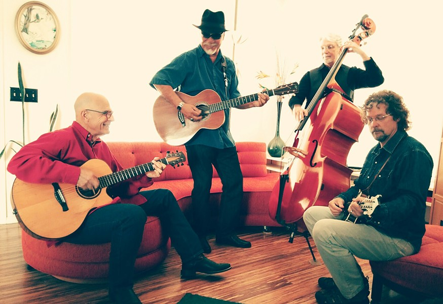TAKE THE RIDE Blues, Tex-Mex, country, and folk quartet, The CC Riders, play Feb. 17, at D'Anbino Cellars. - PHOTO COURTESY OF THE CC RIDERS