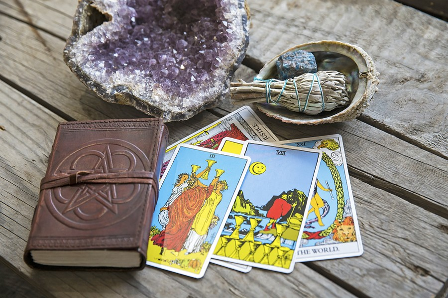 MAGICAL TOOLS Crystals, sage, journals, Tarot cards, and more tools designed to connect people to their own spiritual path can be found at Tamed Wild Apothecary in Arroyo Grande. - PHOTO BY JAYSON MELLOM