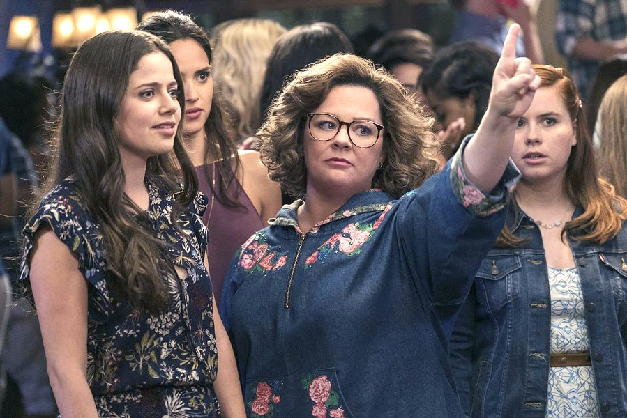 YOUR MOM GOES TO COLLEGE After devoted housewife Deanna (Melissa McCarthy, center) is left by her husband, she decides to go back to college and ends up at the same school as her daughter in Life of the Party. - PHOTO COURTESY OF NEW LINE CINEMA