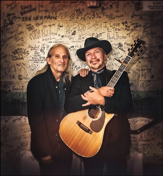 PALS AND ICONS Longtime friends and music icons Jimmie Dale Gilmore (left) and Dave Alvin play The Siren on May 23, the first stop on a nationwide tour. - PHOTO COURTESY OF TIM REESE PHOTOGRAPHY