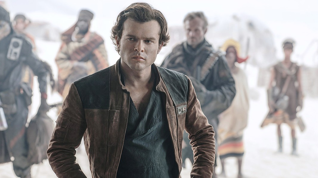 SHOOT FIRST Alden Ehreneich takes on the role of Han Solo in Solo: A Star Wars Story, which depicts Han's early relationships with Chewbacca and Lando Calrissian in the midst of a space adventure. - PHOTO COURTESY OF WALT DISNEY STUDIO