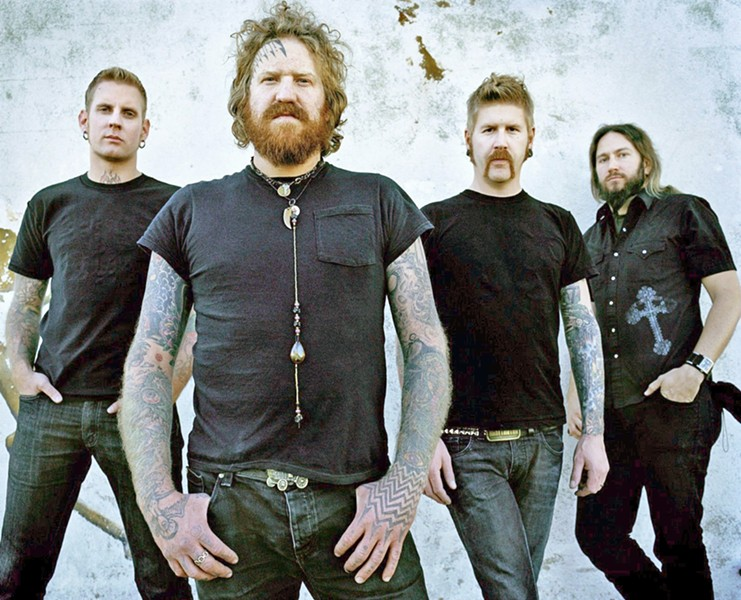HEAVY Mastodon (pictured) co-headlines with Primus at the Avila Beach Golf Resort on June 28, in a beach concert brought to you by Otter Productions, Inc. - PHOTO COURTESY OF MASTODON