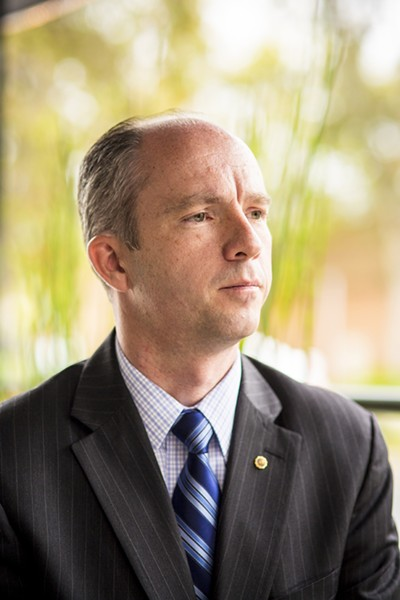 A QUESTION OF SAFTEY SLO County District Attorney Dan Dow said there is always room to improve the justice system, but he has concerns that scrapping the state's current bail system could endanger public safety. - FILE PHOTO BY HENRY BRUINGTON