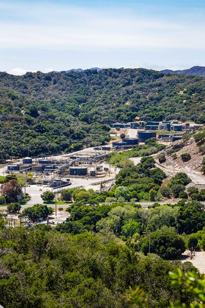 SMALL FOOTPRINT Sentinel Peak Resource's oil operations are developed on 14 percent of the 1,400-acre parcel the company owns in Price Canyon. - PHOTO BY JAYSON MELLOM