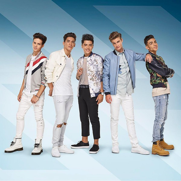 WINNERS In Real Life, the five winners of the reality TV show Boy Band, will open for American Idol Live! 2018 on Aug. 1 in the Fremont Theater. - PHOTO COURTESY OF IN REAL LIFE