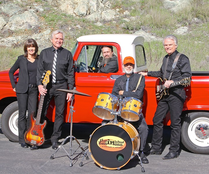 RELIVE WOODSTOCK Unfinished Business plays the music of Woodstock on Aug. 18 at Morro Bay's The Siren. - PHOTO COURTESY OF UNFINISHED BUSINESS