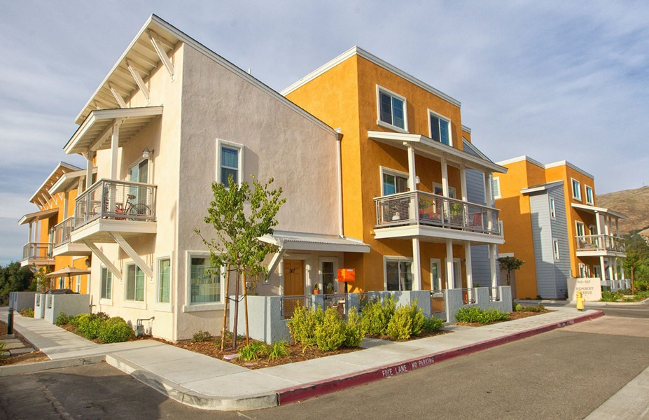 SEARCH FOR SOLUTIONS County supervisors are looking at a suite of new funding measures to support the production of affordable housing, like these units on Lavender Lane and Humbert Avenue in SLO. - FILE PHOTO BY JAYSON MELLOM