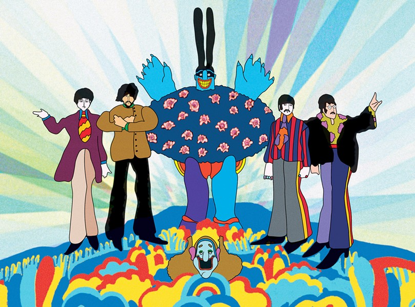 FIGHT THE BLUE MEANIES The Beatles classic 1968 animated adventure comedy Yellow Submarine screens exclusively at The Palm this week. - PHOTO COURTESY OF APPLE CORPS