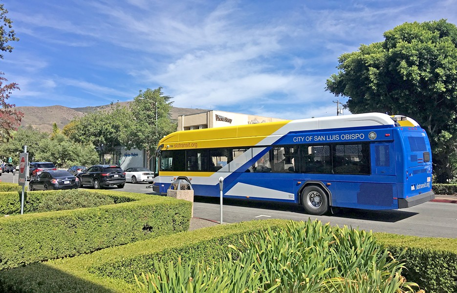 CATCH THE BUS SLO Transit will provide supplemental service to Cal Poly again in 2018-19, after a reduction in service last year caused campus uproar. - PHOTO BY PETER JOHNSON