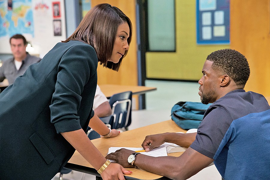 GET IT TOGETHER Carrie (Tiffany Haddish, left) tries to motivate adult students like Teddy (Kevin Hart) to finish their high school degrees, in Night School. - PHOTO COURTESY OF UNIVERSAL PICTURES