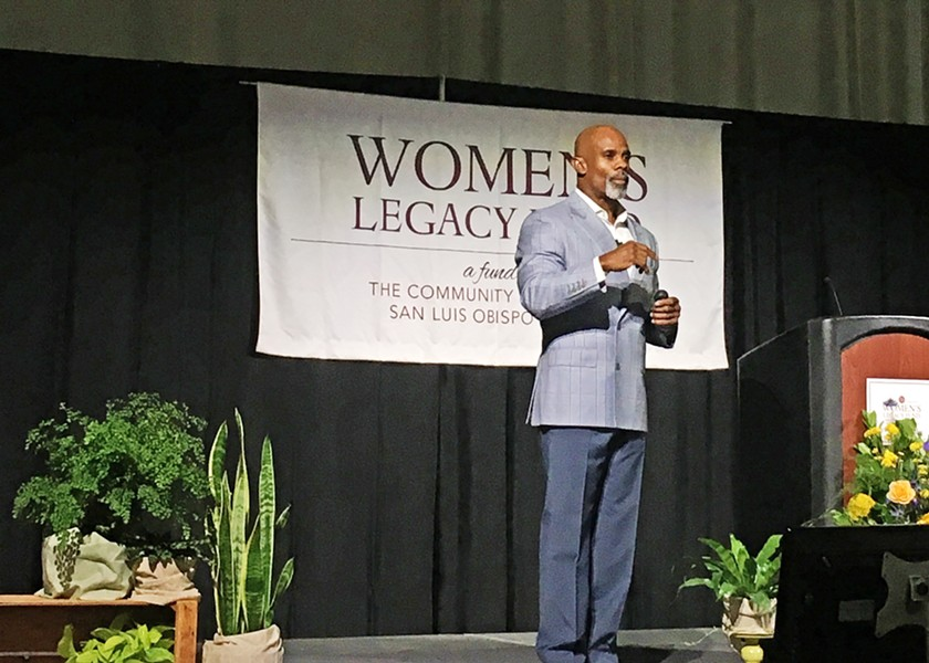MAN TO MAN Ted Bunch brought his talk of promoting healthy and respectful manhood to the Women's Legacy Fund Luncheon. - PHOTO BY KAREN GARCIA