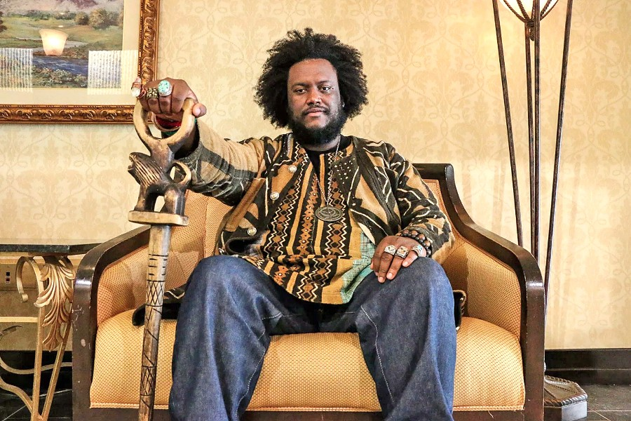 YOUNG LION Jazz saxophonist, composer, and producer Kamasi Washington plays the Fremont on Oct. 20. - PHOTO COURTESY OF KAMASI WASHINGTON