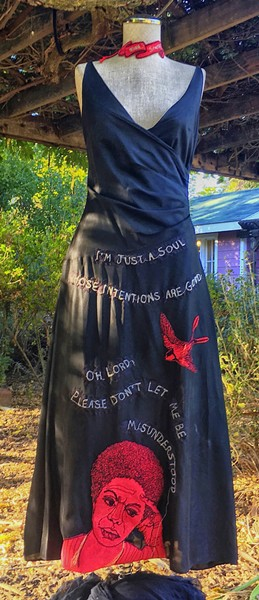 THIS AND THAT The Rag Picker by Melinda Forbes is made entirely of scraps, and speaks to the wasteful nature of the fashion industry. - PHOTO COURTESY OF JULIE FRANKEL AND MELINDA FORBES