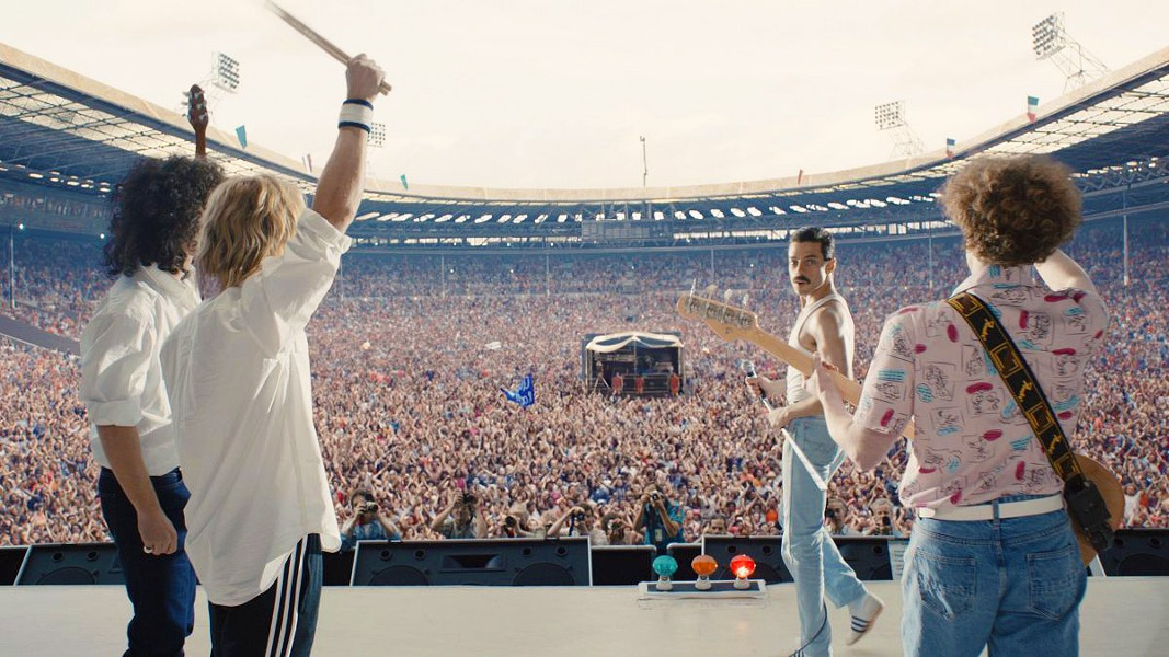 IS THIS THE REAL LIFE? The life and times of Freddie Mercury (Rami Malek) and the band Queen are chronicled in Bohemian Rhapsody. - PHOTO COURTESY OF NEW REGENCY PISTURES