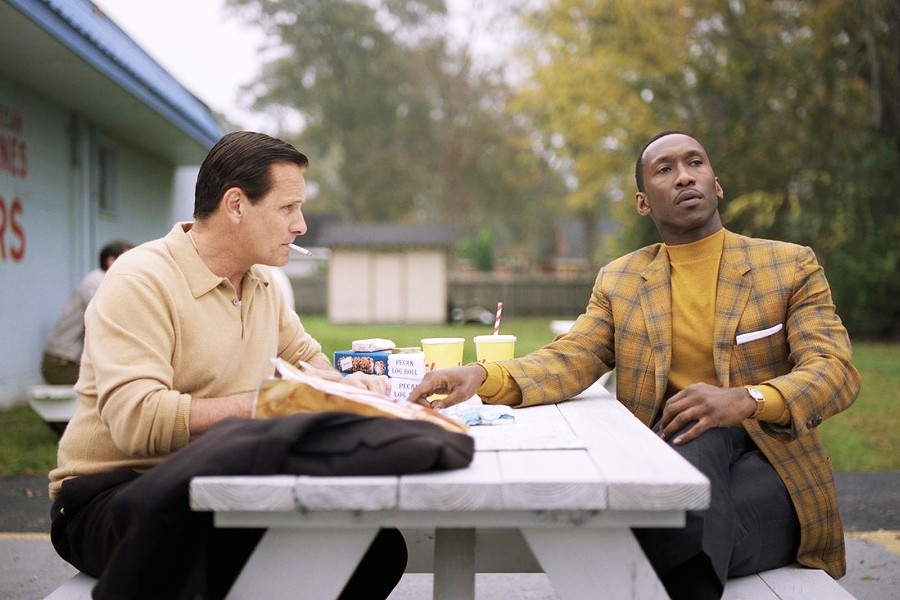ODD COUPLE African-American classical pianist, Don Shirley (Mahershala Ali, right), hires working-class Italian-American bouncer Tony Lip (Viggo Mortensen) as his driver on a music tour of 1960s American South, in the biopic Green Book, opening Nov. 20. - PHOTO COURTESY OF DREAMWORKS