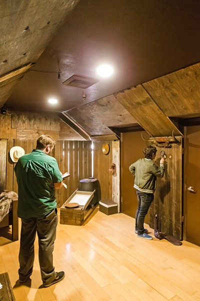 BREAK OUT The Ultimate Escape Rooms in Solvang recently opened a new experience, Gold Fever, which Sun Managing Editor Joe Payne and New Times Calendar Editor Caleb Wiseblood helped solve in 36 minutes. - PHOTO BY JAYSON MELLOM