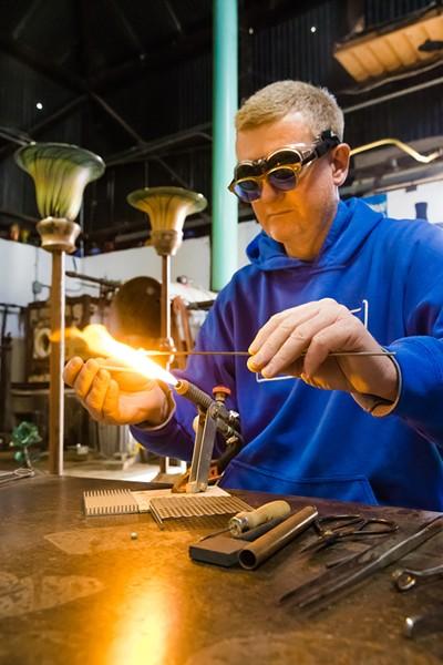 Eric Dandurand of Harmony Glassworks. - PHOTO BY JAYSON MELLOM
