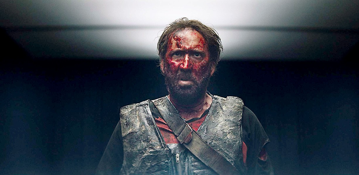 BLOOD EVERYWHERE Nicolas Cage stars in Mandy (2018), a color-filled, '80s-inspired sci-fi thriller, that's a must-see for anyone who's bored of the usual. - PHOTO COURTESY OF SPECTREVISION
