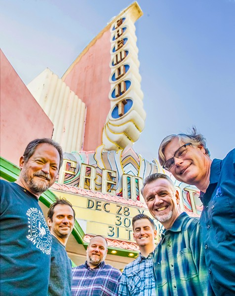 THE A-TEAM (Left to right) Bruce Howard, Taylor Stevens, Dan Sheehan Thomas Cussins, JG King, and Bill Gaines have joined forces to make the Fremont Theater into a world-class concert venue. - PHOTOS BY JAYSON MELLOM