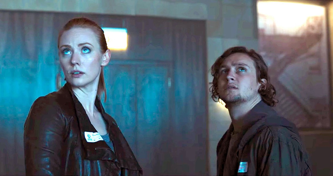 GRAVE EXPECTATIONS Deborah Ann Woll and Logan Miller play complete strangers who must work together in order to survive, in Escape Room. - PHOTO COURTESY OF COLUMBIA PICTURES