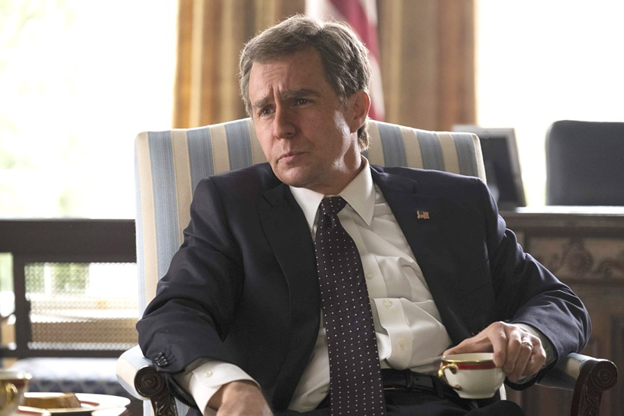 COMMANDER-IN-CHIEF Adam McKay (The Big Short) directs Sam Rockwell as President George W. Bush, in the Dick Cheney biopic Vice. - PHOTO COURTESY OF ANNAPURNA PICTURES