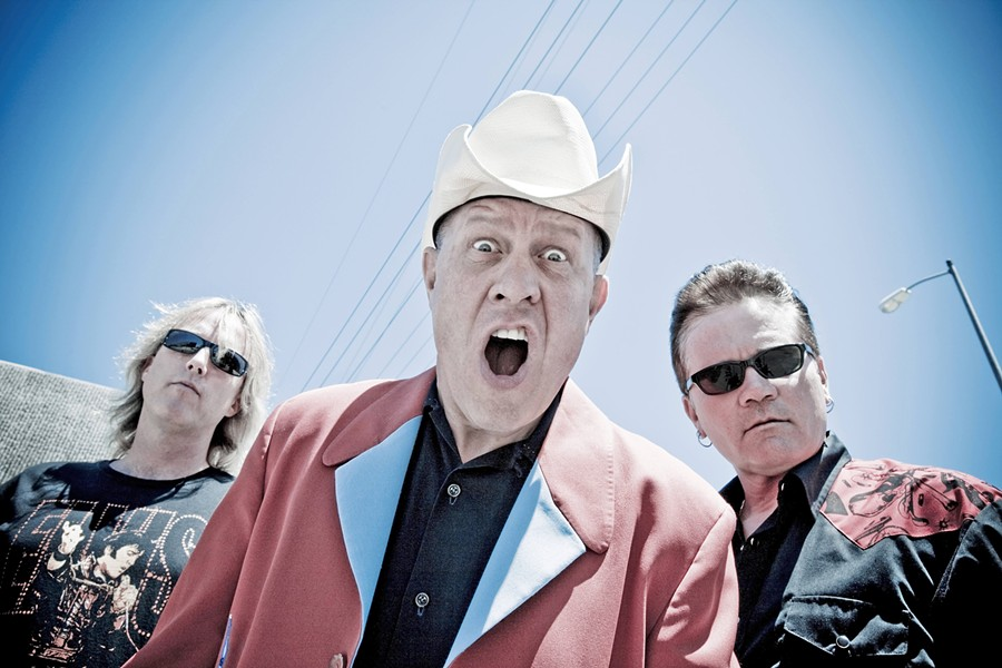 HORTON HEARS A HOWL Frontman Jim Heath (center) and his band, the Reverend Horton Heat, plays the Fremont Theater on Jan. 24. - PHOTO COURTESY OF REVEREND HORTON HEAT