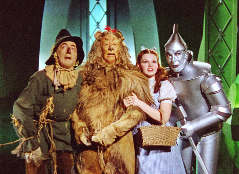NO PLACE LIKE HOME (left to right) The Scarecrow (Ray Bolger), The Cowardly Lion (Bert Lahr), Dorothy (Judy Garland), and The Tin Man (Jack Haley) ask the Wizard to help them in the 1939 classic, The Wizard of Oz, screening Jan. 27 in Downtown Centre. - PHOTO COURTESY OF METRO-GOLDWYN-MAYER