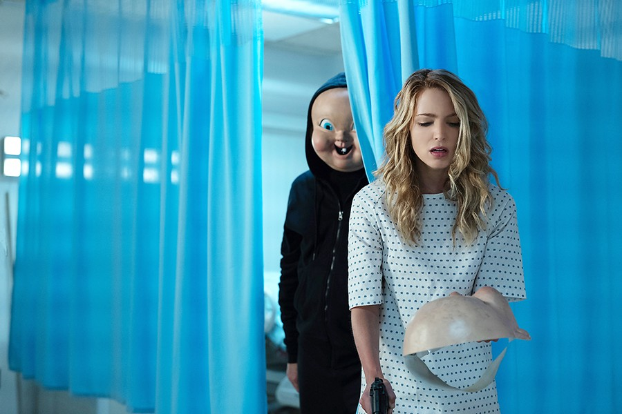 GROUNDHOG DEATH In this sequel about Tree Gelbman (Jessica Rothe), a victim forced to relive her death over and over until she finds her killer, she now discovers that repeated death is easy compared to what lies ahead, in Happy Death Day 2U, opening on Feb. 14. - PHOTO COURTESY OF BLUMHOUSE PRODUCTIONS