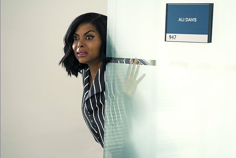 SAY WHAT? Taraji P. Henson stars as Ali Davis, a woman who gets the upper hand over her fellow male sports agents when she begins to hear their thoughts, in What Men Want. - PHOTO COURTESY OF BET FILMS