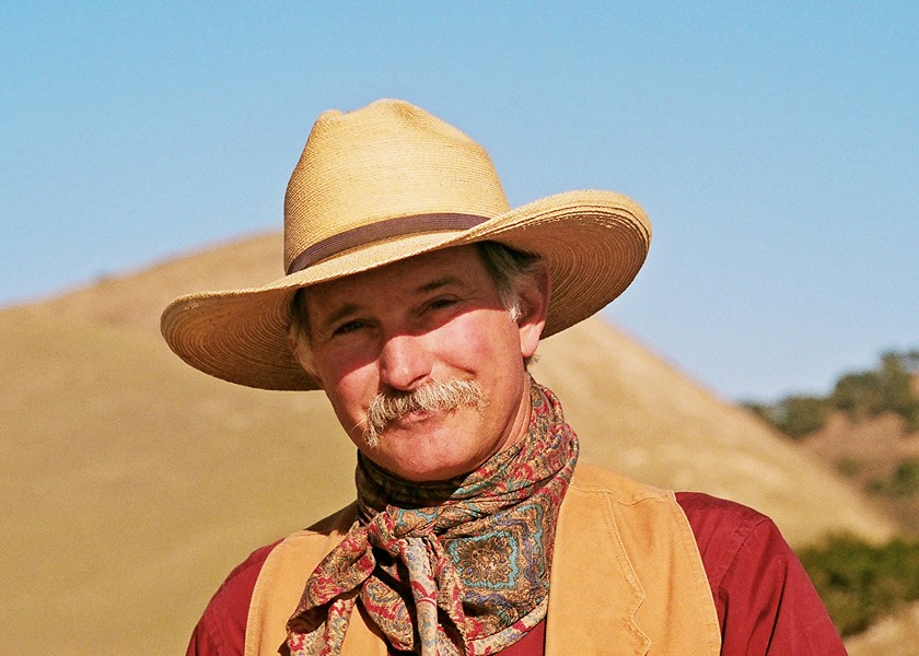 TRUE WEST Songwriter and poet Dave Stamey plays the Fountain Pavilion in the Santa Maria Fairpark on March 23, in a fundraiser for Royal Family KIDS, an all-volunteer nonprofit that serves foster children. - PHOTO COURTESY OF DAVE STAMEY