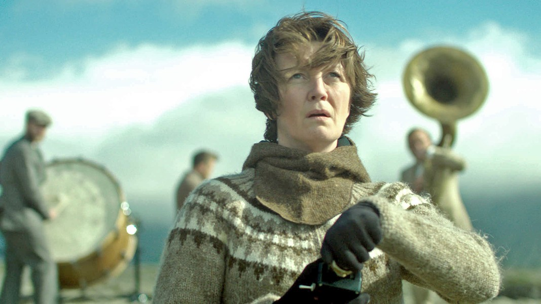 WAR SONG An environmental activist (Halldóra Geirharðsdóttir) battles the Icelandic aluminum industry, in Woman at War. - PHOTO COURTESY OF MAGNOLIA PICTURES