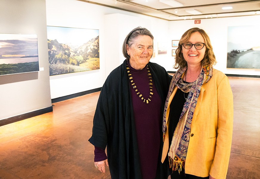 PASSING THE TORCH SLO Museum of Art Curator Ruta Saliklis (right) will serve as interim executive director when longtime Director Karen Kile (left) steps down in May. - PHOTO BY JASYON MELLOM