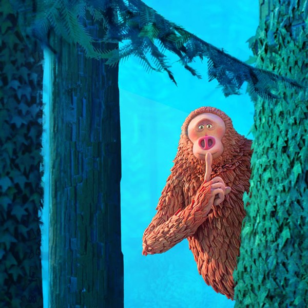 PEEKABOO Zach Galifianakis voices Mr. Link, a mythical creature that two explorers search for, in Missing Link. - PHOTO COURTESY OF LAIKA ENTERTAINMENT