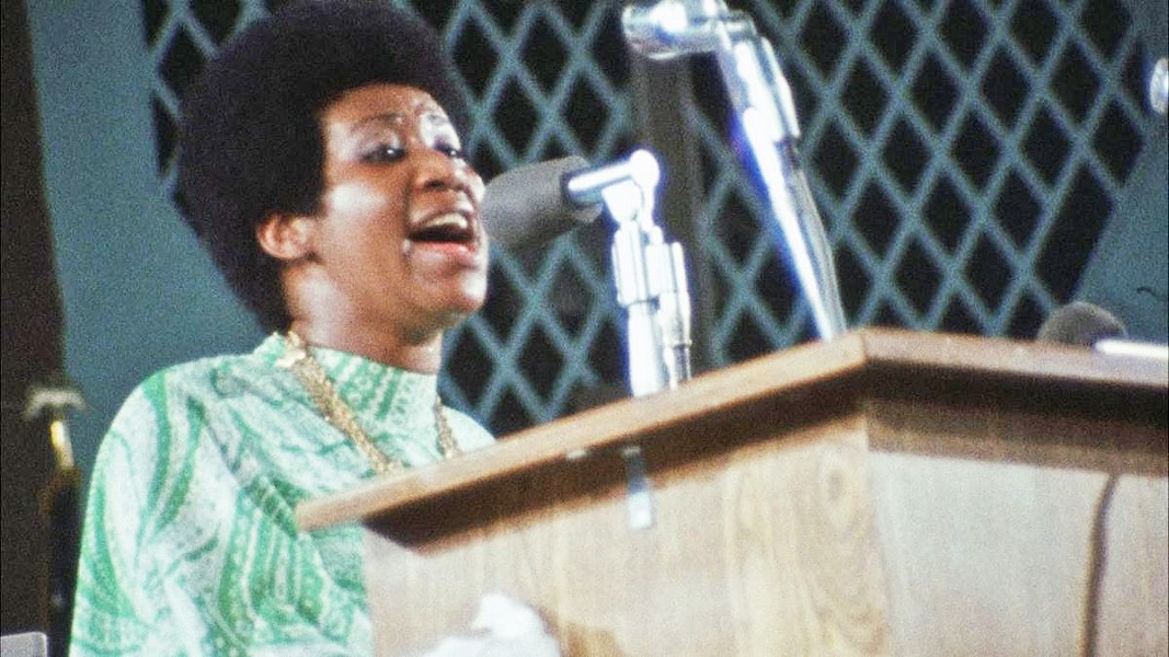 AMAZING Aretha Franklin: Amazing Grace documents soul singer Aretha Franklin's appearance with the choir at the New Bethel Baptist Church in Watts, Los Angeles, in January of 1972—screening exclusively at The Palm Theatre. - PHOTO COURTESY OF 40 ACRES & A MULE FILMWORKS