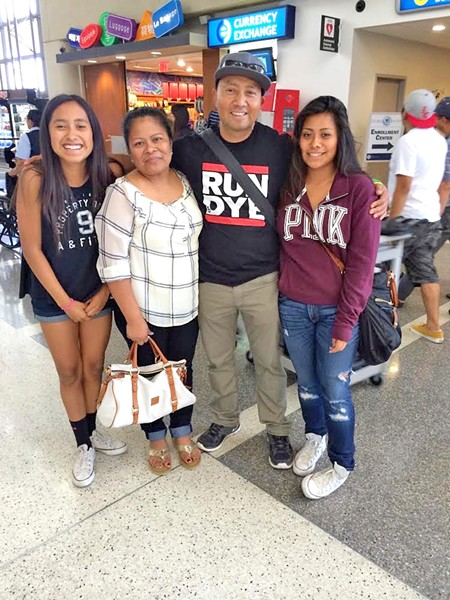 REUNITED (from left to right, Grecia, Neofita, Carlos, and Susan) Ten months after Susan Valerio's mother was deported, the community helped her and her siblings board a plane to visit their parents in Mexico, Susan said. - PHOTO COURTESY OF SUSAN VALERIO