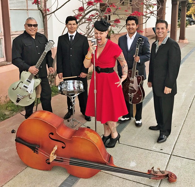 CALLING ALL SWINGERS Swing band MarciJean and the Belmont Kings play Madonna Inn on May 6, with free lessons from the SLO Rugcutters. - PHOTO COURTESY OF MARCIJEAN AND THE BELMONT KINGS