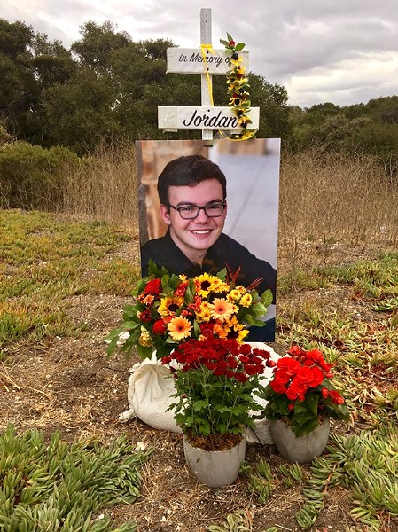 MORE WORK TO BE DONE Caltrans will close the El Campo Road intersection, where Cal Poly student Jordan Grant was killed in an accident, and three others, pending a longer term solution. - PHOTO COURTESY OF JORDAN GRANT'S FACEBOOK MEMORIAL PAGE