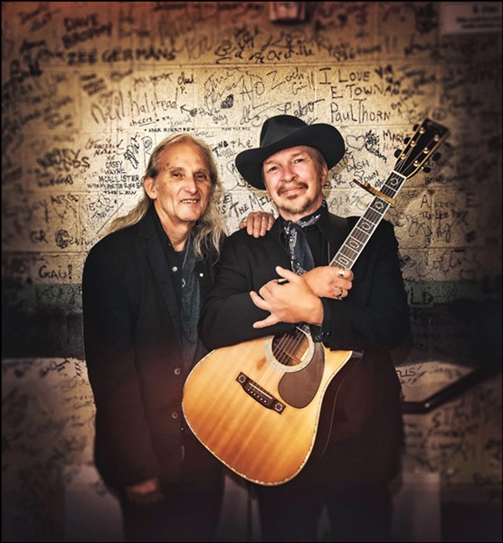 LIVE OAK IS COMING Dave Alvin and Jimmie Dale Gilmore headline the first night of the three-day Live Oak Music Festival on June 21, bringing their Western swing, blues, and early rock sounds. - PHOTO COURTESY OF DAVE ALVIN AND JIMMIE DALE GILMORE