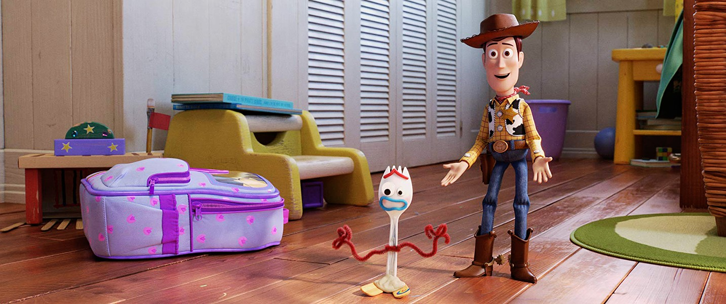 FAVORITE DEPUTY Forky is coming to grips with the fact that he's a talking spork and Woody is determined to make him understand that his new purpose is creating memories with Bonnie. - PHOTOS COURTESY OF DISNEY