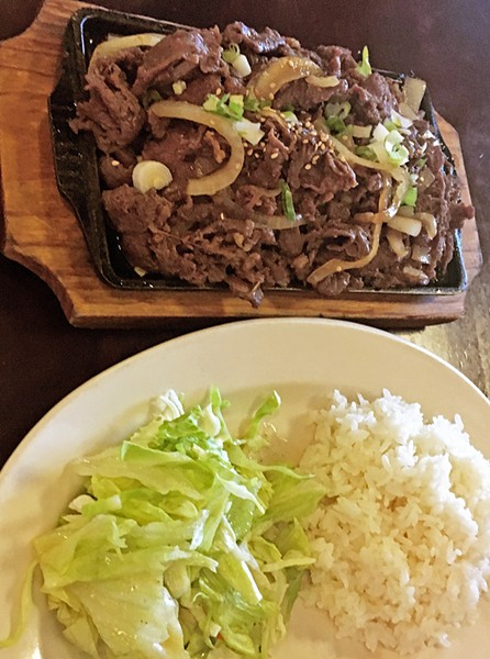 SHOULD BE YOUR CHOICE TONIGHT Hana Teriyaki makes the best sweet and spicy bulgogi you will ever eat. The dish comes with rice and your choice of salad or kimchi. - PHOTOS BY BETH GIUFFRE