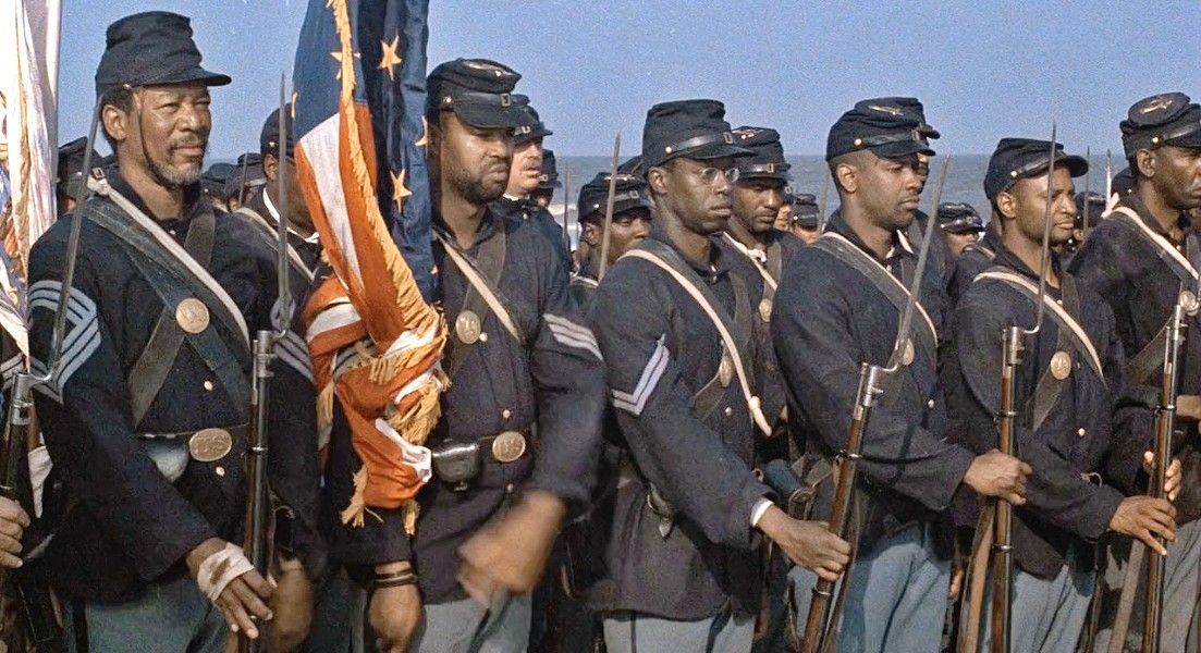AMERICAN HEROES Edward Zwick's 1989 Academy Award-winning film, Glory, about an all-black Civil War regiment, screens on July 21 in the Downtown Centre Cinemas. - PHOTO COURTESY OF TRI-STAR PICTURES
