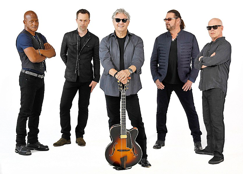 SPACE COWBOYS The Steve Miller Band plays Vina Robles Amphitheatre on Aug. 22. New Times interviewed bassist Kenny Lee Lewis, second from the right. - PHOTO COURTESY OF THE STEVE MILLER BAND