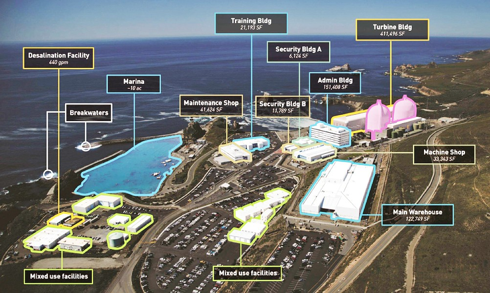 PARCEL P San Luis Obispo County plans to tell state regulators next month that it is not interested in reusing facilities at Diablo Canyon Power Plant after its closure. - IMAGE COURTESY OF SLO COUNTY