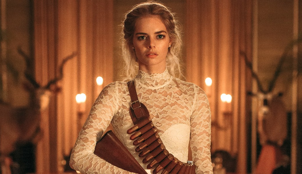 WELCOME TO THE FAMILY? New bride, Grace (Samara Weaving), finds herself fighting for her life in a time-honored tradition of her new husband's rich, eccentric family, in Ready or Not. - PHOTO COURTESY OF MYTHOLOGY ENTERTAINMENT