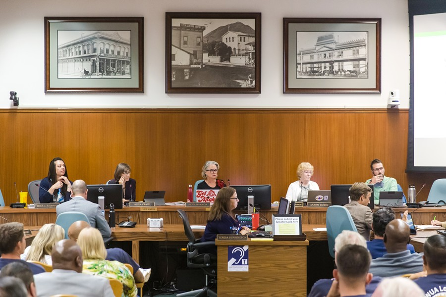 ELECTRIC VS. GAS At a Sept. 3 meeting that lasted until close to midnight, the San Luis Obispo City Council adopted a local building code that strongly disincentivizes natural gas in new development. - PHOTO BY JAYSON MELLOM