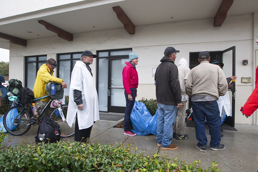 GROWING SERVICES In its efforts to expand services, including finding a permanent warming center, the 5 Cities Homeless Coalition purchased property to house new offices on Aug. 30. - FILE PHOTO BY JAYSON MELLOM